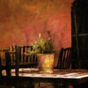 Cafe A La Sombra Art Print