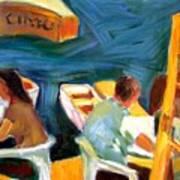 Cafe At Dockside Art Print