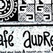 Cafe Audrey Art Print