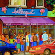 Cafe Bilboquet Ice Cream Delight Art Print