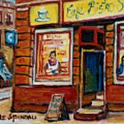 Cafe Bistro St. Viateur Art Print