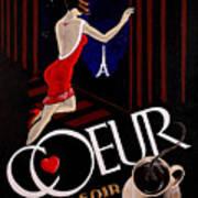 Cafe Coeur 1 Art Print