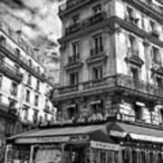 Cafe Corner - Le Bouquet Du Nord Art Print