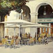 Cafe de Pombo-Santander Art Print