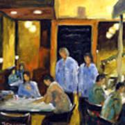 Cafe Des Artistes Art Print