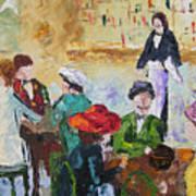 Cafe Des Batignolles Paris France Art Print
