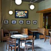 Cafe E Interior Art Print