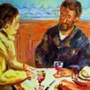 Cafe  Homage  De Pierre Auguste Art Print