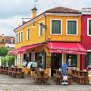 Cafe In Burano Art Print