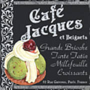 Cafe Jacques Art Print