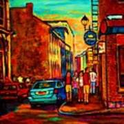 Cafe Le Vieux Port Art Print