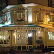 Cafe Louis Philippe Art Print