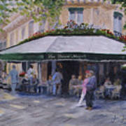 Cafe Magots Art Print