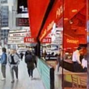 Cafe On Broadway Art Print