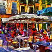 Cafe Provence Art Print