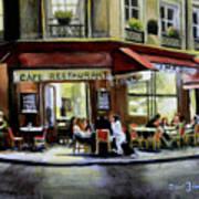Cafe Regulars Art Print