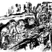 Cafe Scene Art Print