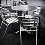 Cafe Seating Art Print