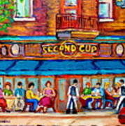 Cafe Second Cup Terrace Art Print