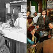 Cafe - Temptations 1915 - Side By Side Art Print