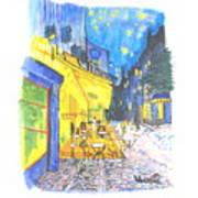 Cafe Terrace At Night - Van Gogh Art Print