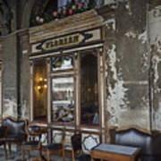 Cafe Terrace On Piazza San Marco Art Print