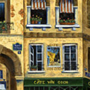 Cafe Van Gogh Paris Art Print by Marilyn Dunlap