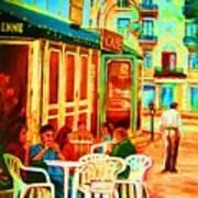 Cafe Vienne Art Print