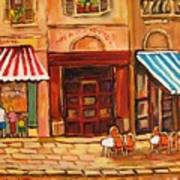 Cafe Vieux Montreal Art Print