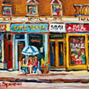 Cafe Yenta And Ma's Place Art Print