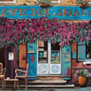 caffe del Aigare Art Print by Guido Borelli