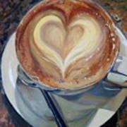 Caffe Vero's Heart Art Print