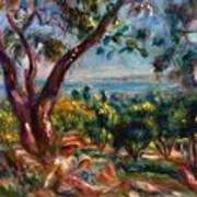 Cagnes Landscape With Woman And Child 1910 Art Print