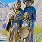 Cahuilla Band Of Agua Caliente Indians Sculpture On Tahquitz Canyon Way In Palm Springs-california Art Print