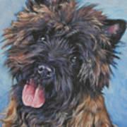 Cairn Terrier Brindle Art Print by Lee Ann Shepard