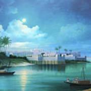Cairo Under The Moonligh  Art Print