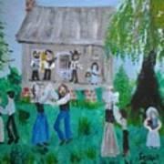 Cajun House Dance Art Print