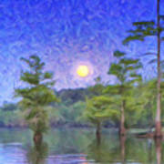 Cajun Moon Art Print
