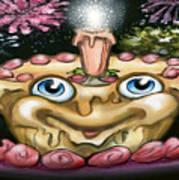 Cake N Fireworks Art Print