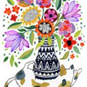 Calico Bouquet Art Print