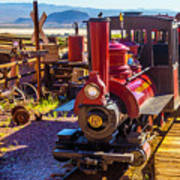 Calico Ghost Town Train Art Print