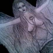 Calico Hippie Angel Art Print