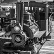 Calico Odessa Train In Black And White Art Print