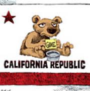 California Budget Begging Art Print