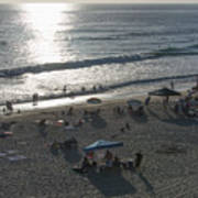 California Carlsbad Beach Almost Sunset Art Print