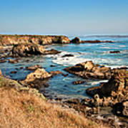 California Coast Rocky Cliffs Art Print