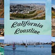 California Collage Art Print