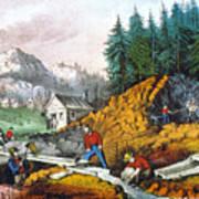 California: Gold Mining Art Print