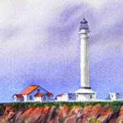 California Lighthouse Point Arena Art Print