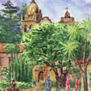 California Mission Carmel Basilica Art Print